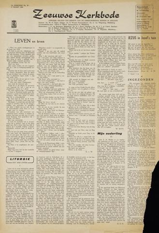 Zeeuwsche kerkbode, weekblad gewijd aan de belangen der gereformeerde kerken/ Zeeuwsch kerkblad 1964-03-27