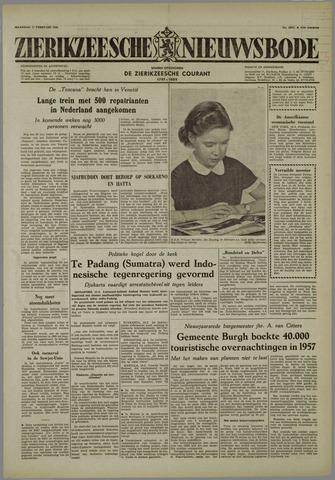 Zierikzeesche Nieuwsbode 1958-02-17