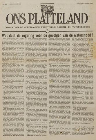 Watersnood documentatie 1953 - kranten 1953-02-19