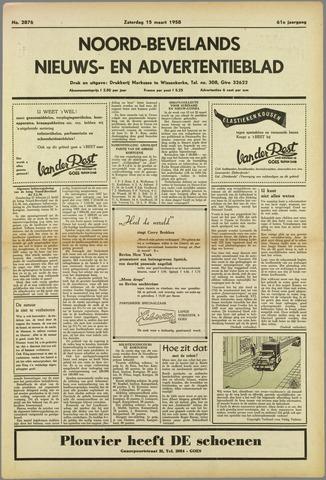 Noord-Bevelands Nieuws- en advertentieblad 1958-03-15