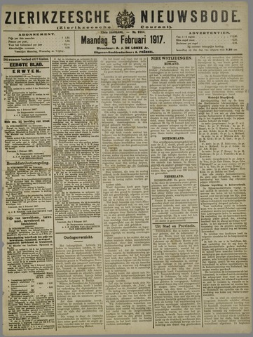 Zierikzeesche Nieuwsbode 1917-02-05