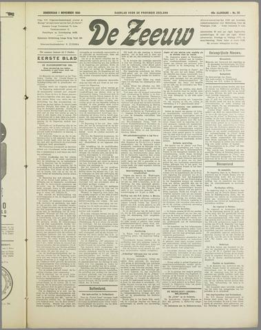 De Zeeuw. Christelijk-historisch nieuwsblad voor Zeeland 1934-11-01