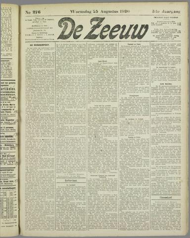 De Zeeuw. Christelijk-historisch nieuwsblad voor Zeeland 1920-08-25