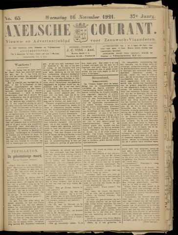 Axelsche Courant 1921-11-16