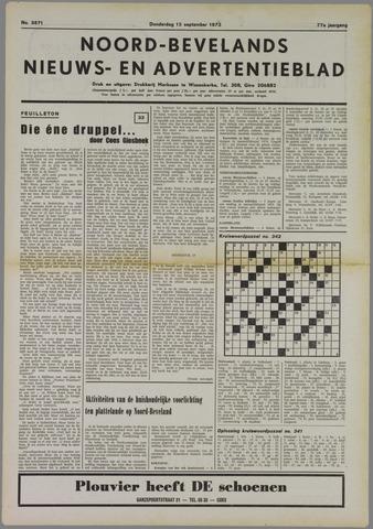 Noord-Bevelands Nieuws- en advertentieblad 1973-09-13