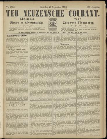 Ter Neuzensche Courant. Algemeen Nieuws- en Advertentieblad voor Zeeuwsch-Vlaanderen / Neuzensche Courant ... (idem) / (Algemeen) nieuws en advertentieblad voor Zeeuwsch-Vlaanderen 1885-09-26