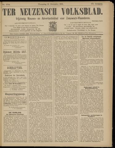Ter Neuzensch Volksblad. Vrijzinnig nieuws- en advertentieblad voor Zeeuwsch- Vlaanderen / Zeeuwsch Nieuwsblad. Nieuws- en advertentieblad voor Zeeland 1916-12-13