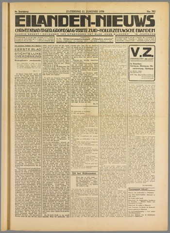 Eilanden-nieuws. Christelijk streekblad op gereformeerde grondslag 1936-01-11