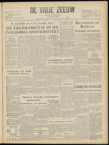 de Vrije Zeeuw 1952-04-10