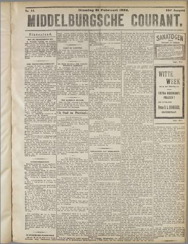Middelburgsche Courant 1922-02-21