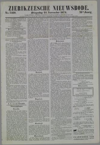 Zierikzeesche Nieuwsbode 1874-11-24