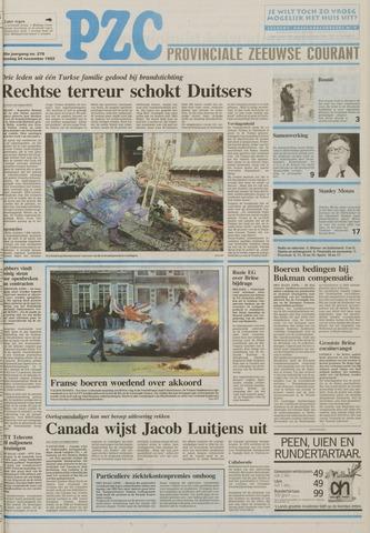 Provinciale Zeeuwse Courant 1992-11-24