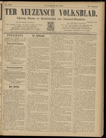 Ter Neuzensch Volksblad. Vrijzinnig nieuws- en advertentieblad voor Zeeuwsch- Vlaanderen / Zeeuwsch Nieuwsblad. Nieuws- en advertentieblad voor Zeeland 1914-07-29