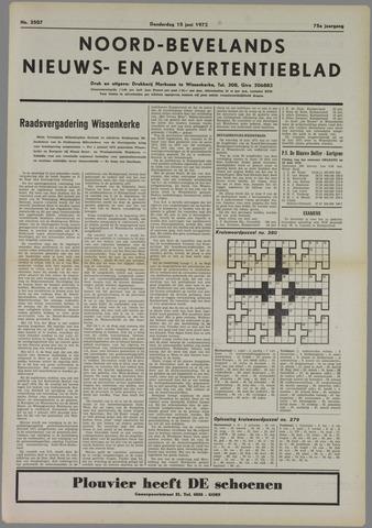 Noord-Bevelands Nieuws- en advertentieblad 1972-06-15