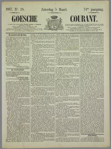 Goessche Courant 1887-03-05
