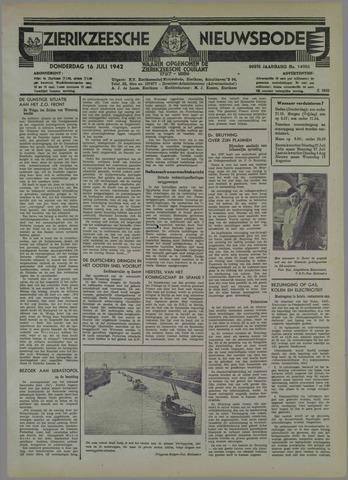 Zierikzeesche Nieuwsbode 1942-07-16