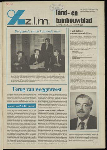Zeeuwsch landbouwblad ... ZLM land- en tuinbouwblad 1982-11-12