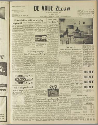 de Vrije Zeeuw 1961-11-27