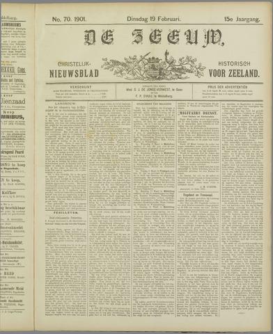 De Zeeuw. Christelijk-historisch nieuwsblad voor Zeeland 1901-02-19