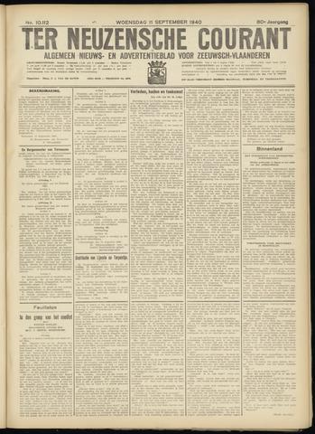 Ter Neuzensche Courant. Algemeen Nieuws- en Advertentieblad voor Zeeuwsch-Vlaanderen / Neuzensche Courant ... (idem) / (Algemeen) nieuws en advertentieblad voor Zeeuwsch-Vlaanderen 1940-09-11