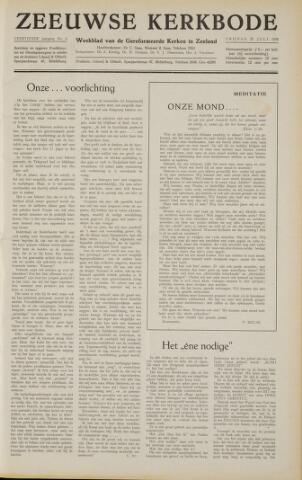 Zeeuwsche kerkbode, weekblad gewijd aan de belangen der gereformeerde kerken/ Zeeuwsch kerkblad 1958-07-25