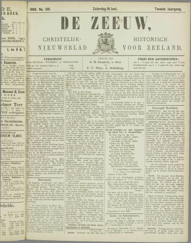 De Zeeuw. Christelijk-historisch nieuwsblad voor Zeeland 1888-06-16