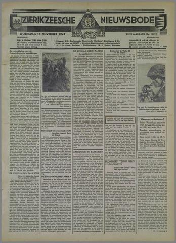 Zierikzeesche Nieuwsbode 1942-11-18