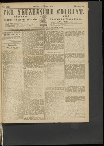 Ter Neuzensche Courant. Algemeen Nieuws- en Advertentieblad voor Zeeuwsch-Vlaanderen / Neuzensche Courant ... (idem) / (Algemeen) nieuws en advertentieblad voor Zeeuwsch-Vlaanderen 1914-03-24
