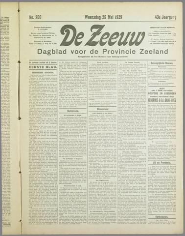 De Zeeuw. Christelijk-historisch nieuwsblad voor Zeeland 1929-05-29