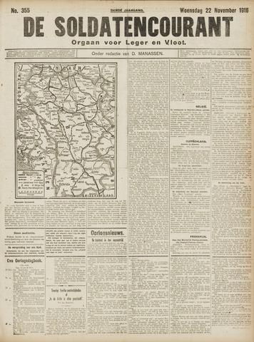 De Soldatencourant. Orgaan voor Leger en Vloot 1916-11-22