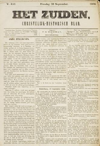Het Zuiden, Christelijk-historisch blad 1880-09-28