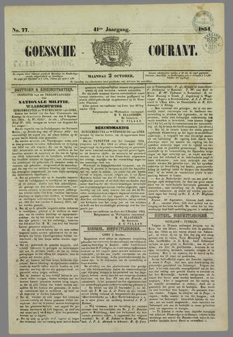 Goessche Courant 1854-10-02