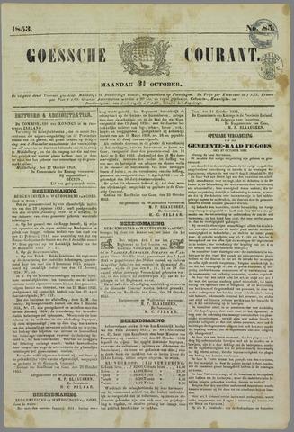 Goessche Courant 1853-10-31
