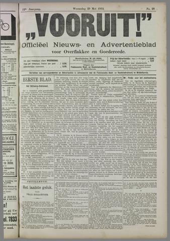 """""""Vooruit!""""Officieel Nieuws- en Advertentieblad voor Overflakkee en Goedereede 1912-05-29"""