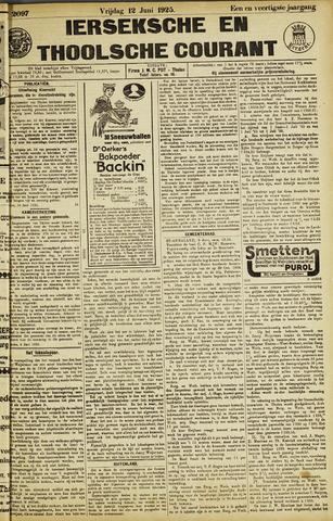 Ierseksche en Thoolsche Courant 1925-06-12