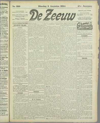 De Zeeuw. Christelijk-historisch nieuwsblad voor Zeeland 1924-08-05
