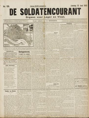 De Soldatencourant. Orgaan voor Leger en Vloot 1915-06-13