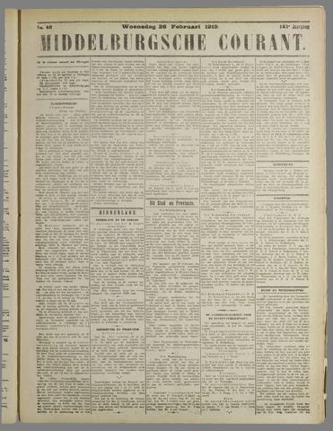 Middelburgsche Courant 1919-02-26