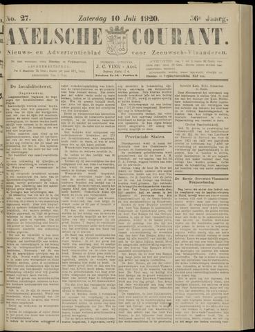 Axelsche Courant 1920-07-10