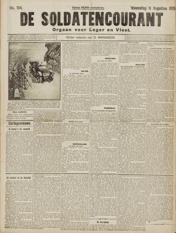 De Soldatencourant. Orgaan voor Leger en Vloot 1915-08-11