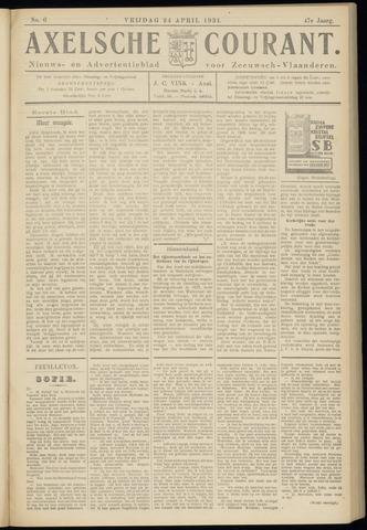 Axelsche Courant 1931-04-24
