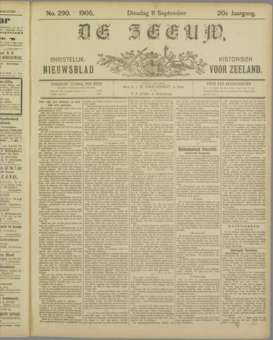 De Zeeuw. Christelijk-historisch nieuwsblad voor Zeeland 1906-09-11