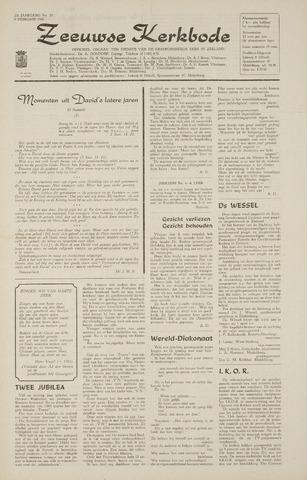 Zeeuwsche kerkbode, weekblad gewijd aan de belangen der gereformeerde kerken/ Zeeuwsch kerkblad 1968-02-08