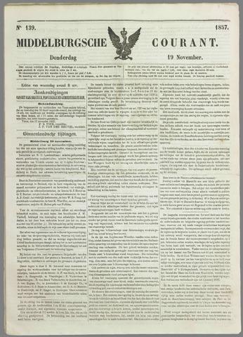 Middelburgsche Courant 1857-11-19