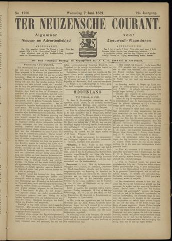 Ter Neuzensche Courant. Algemeen Nieuws- en Advertentieblad voor Zeeuwsch-Vlaanderen / Neuzensche Courant ... (idem) / (Algemeen) nieuws en advertentieblad voor Zeeuwsch-Vlaanderen 1882-06-07