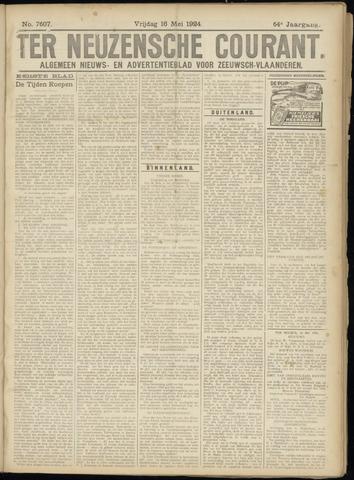 Ter Neuzensche Courant. Algemeen Nieuws- en Advertentieblad voor Zeeuwsch-Vlaanderen / Neuzensche Courant ... (idem) / (Algemeen) nieuws en advertentieblad voor Zeeuwsch-Vlaanderen 1924-05-16