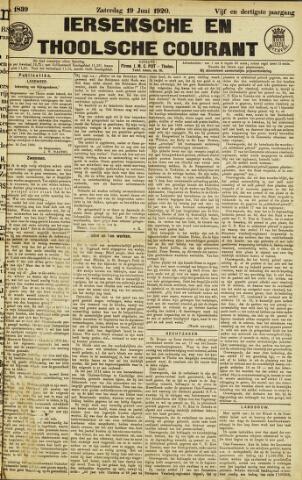 Ierseksche en Thoolsche Courant 1920-06-19