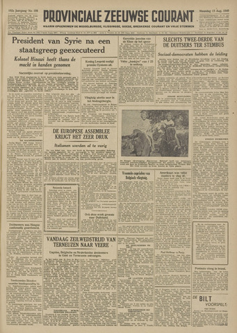 Provinciale Zeeuwse Courant 1949-08-15