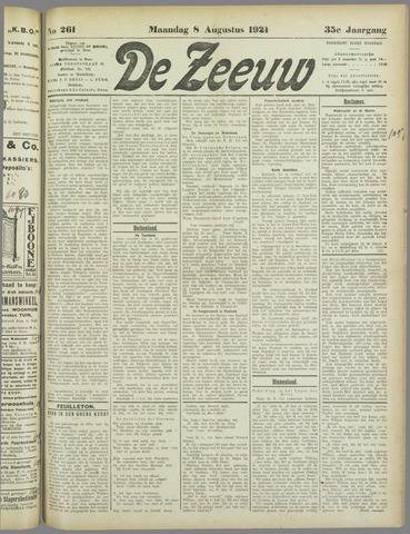 De Zeeuw. Christelijk-historisch nieuwsblad voor Zeeland 1921-08-08
