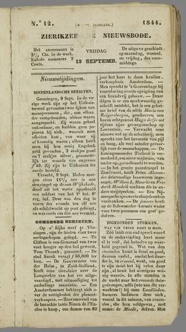 Zierikzeesche Nieuwsbode 1844-09-13